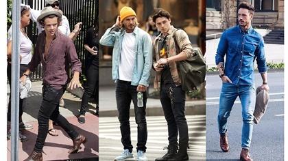männermode skinny jeans