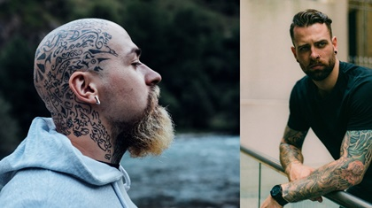 männermode tattoos